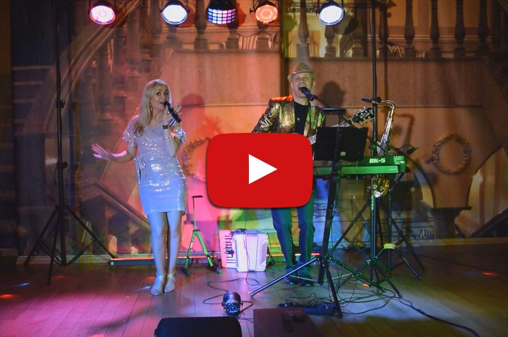 film przedstawiający zespół weselny w dwuosobowym składzie włocławek
